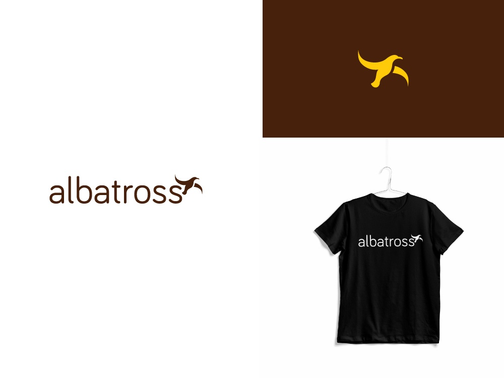 Fashion Brand Identity for Albatross bangladesh dhaka ja tee t shirt design dribbble flat vector icon illustration minimal typography logo branding