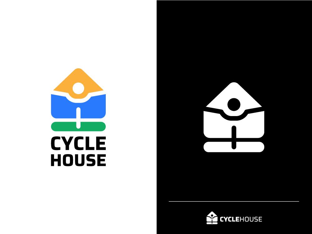 Cycle House cycle app dribbble vector typography flat icon design icon branding brand design illustraion illustrator design clean logo design simple minimal logodesign logo cycle house