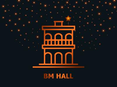 BM Hall on Christmas Month branding design bangladesh dhaka ja icon typography ui vector illustration minimal