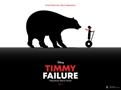 Timmy Failure dhaka ja alternative minimal poster illustration imagination detective bear mistakes disney timmyfailure