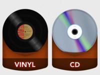 Vinyl & CD Icons