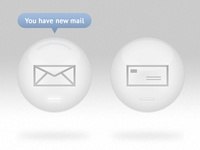 White Mail Icons