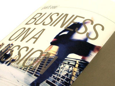 Sustainability Report / Business on a mission annual report print design