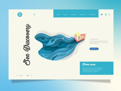Project Landing Page Discover Sea