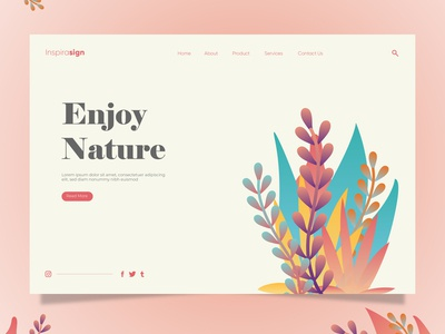 Project Landing Page Nature