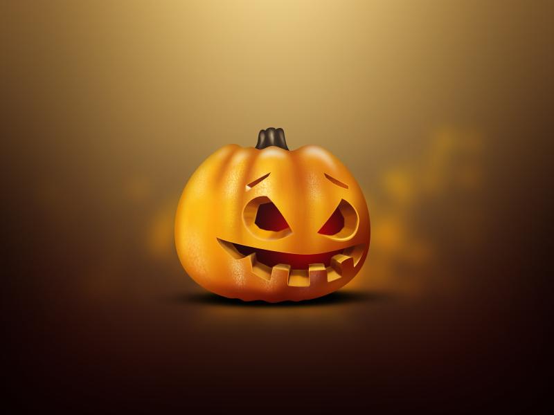 Pumpkin photoshop illustration cartoon pumpkin halloween magic