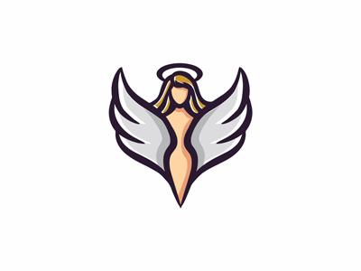 Angel woman logo goddess logo wings logo angel woman logo woman logo angel logo