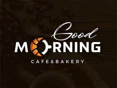 Coffee and bakery logo good morning logo cafe logo bakery logo cafe and bakery logo coffee and croissant logo croissant logo coffee shop logo coffee cup logo coffee logo