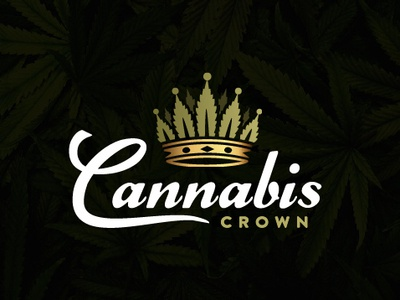 Cannabis crown logo marijuana logo crown logo cannabis crown logo cannabis logo