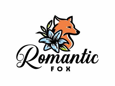 Romantic fox logo