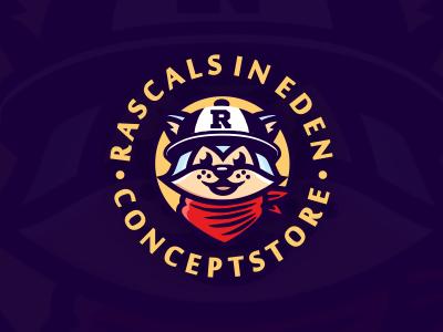 Raccoon rascal logo
