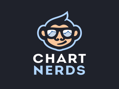 Chart Nerds logo chart logo metric logo geek logo nerd logo monkey logo