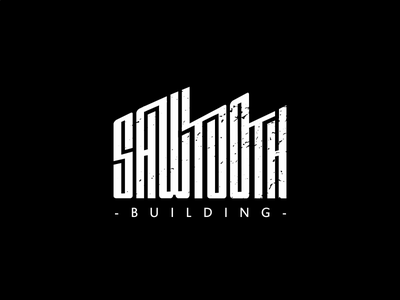 Sawtooth building logo typography industrial building logo industrial logo building logo sawtooth building sawtooth building logo