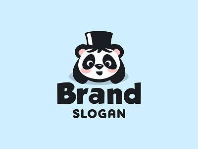 Cute wizard panda logo panda logo panda wizard logo wizard logo panda gentleman logo panda geek logo cute panda logo