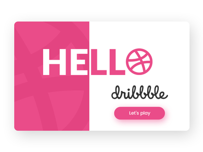 Hello Dribbble! first shot debut hello dribbbble