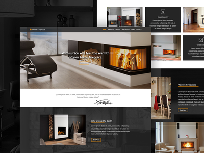 Website Design For Fireplace Company website web ux ui service layout graphicdesign graphic garden freelance design
