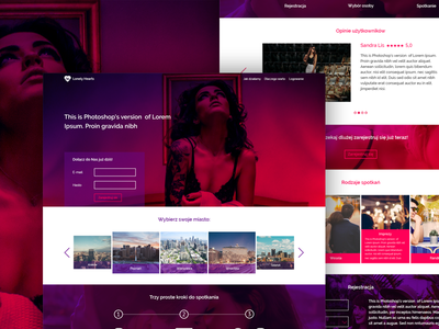 Design concept website for singles web design single layout website web ux ui minimal graphicdesign graphic freelance design