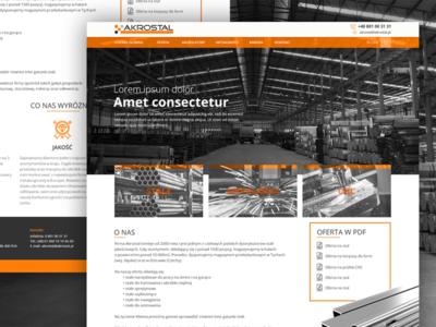 Design Concept Website For Steel Distributor