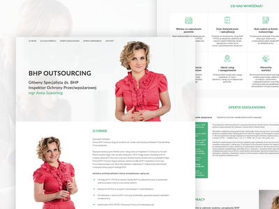 One Page For Health and Safety Inspector design freelance graphic graphicdesign minimal ui ux web website layout one page web design
