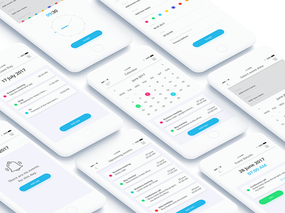 Calendar App Design ui design app design app application ux ui minimal ios debut graphic freelance design