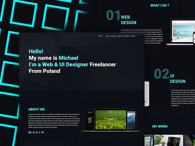 My Portfolio Design design freelance graphic portfolio minimal ui ux web website layout web design ui design