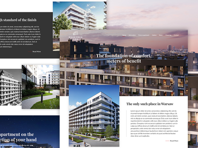 Website Design For Residential In Warsaw ui design web design website residential ux ui minimal layout graphicdesign graphic freelance design