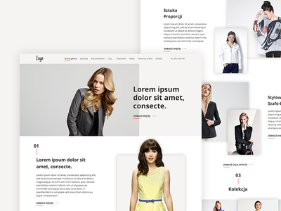 Website Design For Fashion Stylist design freelance style fashion layout minimal ui ux residential website web design ui design