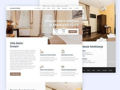 Website Design For Holiday Resort ui design web design website residential ux ui minimal layout freelance design