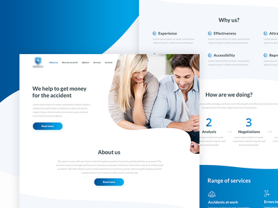 Compensations Group Onepage Design ui design web design onepage landing ux ui minimal layout website freelance design