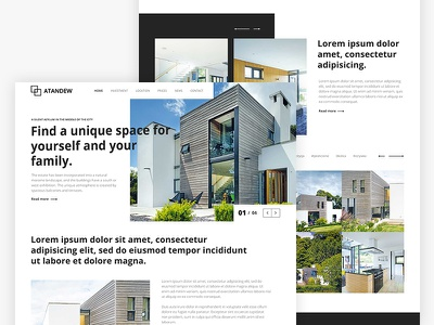 Property Development Website Design design freelance website layout minimal ui ux landing web design ui design