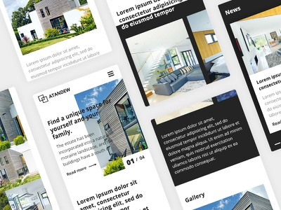 Property Development Website Design Mobile View ui design web design landing ux ui minimal layout website freelance design