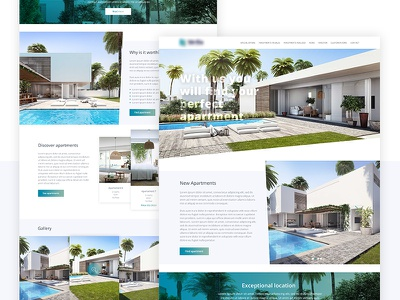 Apartment - Website Design apartment ui design web design landing ux ui minimal layout website freelance design