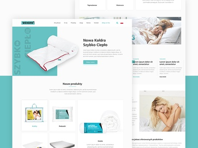 Website Design For Wendre Producer Of Bedding Products. ui design web design header landing ux ui minimal layout website freelance design