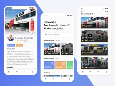 Find a mechanic - Mobile app concept ui design ux ui minimal layout app mechanics freelance design