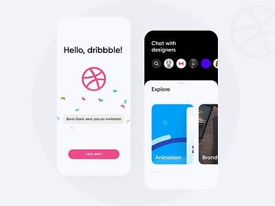 Hello Dribbble! hello dribbble ui mobile application app first shot