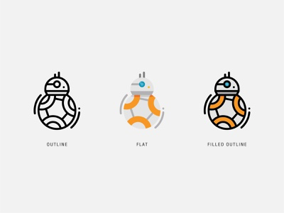 BB-8?! star wars droid bb8 starwars icon design icons iconaday iconography vector ux logo app ui design illustration icon