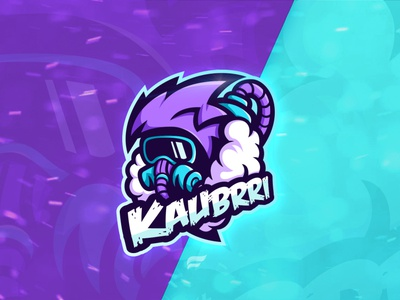 """Logo for YouTube channel """"Kaubrri"""" youtube channel youtube logo youtube esports logo esports mascot esportslogo esports mascotlogo vector branding design designer logo design illustration mascot logo mascot logodesign logotype logo"""