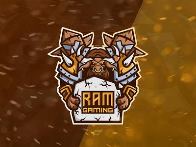 "Esports team logo ""RAM gaming logodesign vector logotype logo design tauren artwork mascotlogo mascot logo esports logo esport"