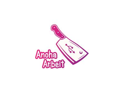 Anoha Arbeit symbol computer graphic designer designer logo design vector logotype brand logo personal personal brand