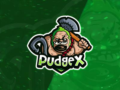 PudgeX logo design illustraion logo designer vector designer design logotype dota 2 characterdesign characters mascot character mascot logo mascotlogo mascot logo character team dota dota2
