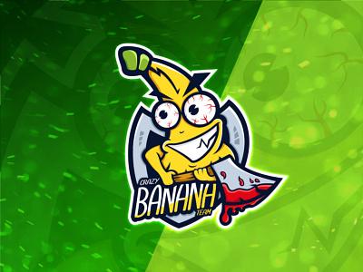 Crazy banana team logo design characterdesign logotype logo design graphic designer designer inspirations inspiration illustration team illustrator vector design logo character mascot character mascot design mascot logo mascot