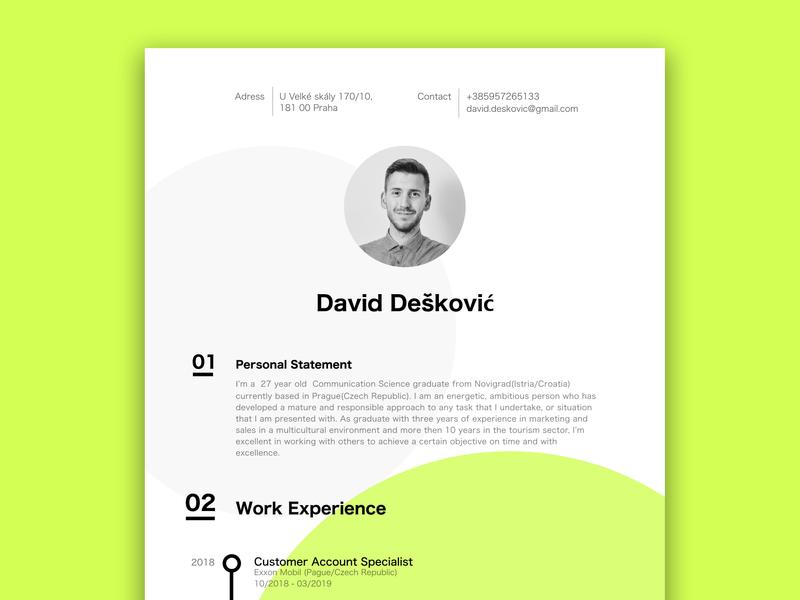 Free CV Template typography logo graphic design flat ui