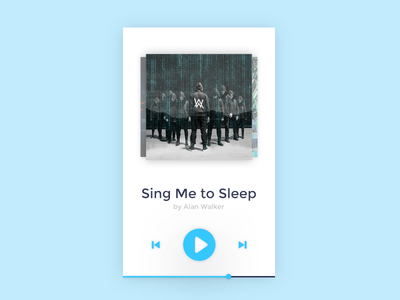 Daily UI challenge #009 — Music Player Card