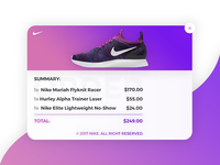 Daily UI challenge #017 - Email Receipt ux email receipt ui receipt email nike gradient day daily ui challenge daily ui dailyui daily 017