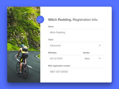 Daily UI #007 Settings card registration dailyui material web profile settings ui form