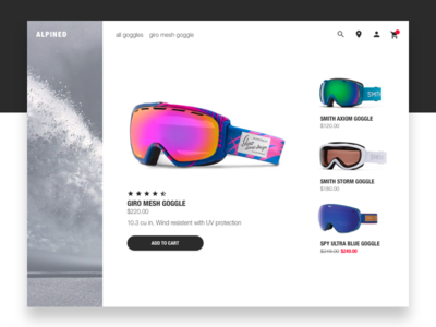 Alpined flat clean modern interface web sports ecommerce ui daily