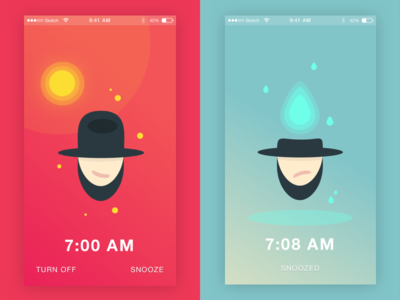 Daily UI #015 On/Off Switch 015 snooze alarm ios ui sketch illustration mobile dailyui
