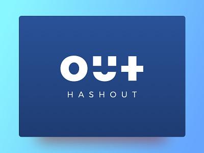 Hashout Logo key smile strikethrough concept icon logo