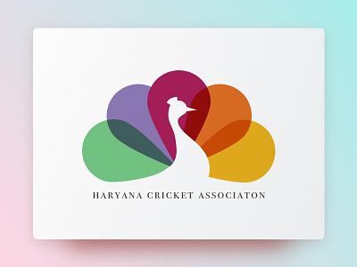 Cricket Board colorful grace peacock haryana cricket logo