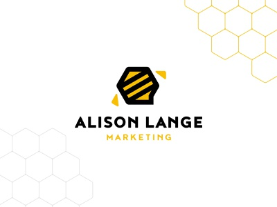 ALM Unused Logo Concept 3 graphic vector identity logos communication marketing bee honeybee chat honeycomb concept logo design branding design branding brand logo